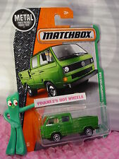 2017 Matchbox #95 VOLKSWAGEN TRANSPORTER CAB☆Green VW☆cargo/tire bed☆EXPLORERS