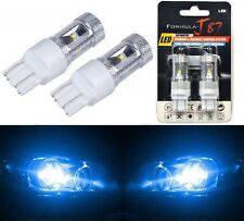 LED Light 30W 7444 Blue 10000K Two Bulbs Front Turn Signal Replacement Show Lamp
