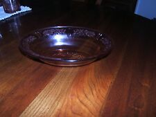 "FEDERAL PINK SHARON CABBAGE ROSE DEPRESSION GLASS 9 1/2"" OVAL BOWL 1935-1939"