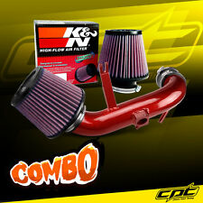09-15 Lancer 2.4L 4cyl Automatic Red Cold Air Intake + K&N Air Filter