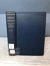 1905 ANTIQUE Roman Society by Samuel Dill from Macmillan & Co London HC