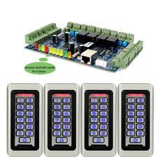 4x RFID Waterproof EM-ID Card Code Reader+1x TCP/IP Door Access Controller Panel
