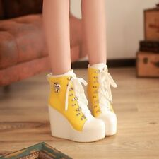 Wedge High Heels Platform Women Girls Shoes Lace Up Ankle Boots Sneakers UK Sz