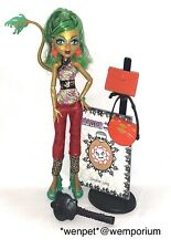 Monster High Doll Jinafire Scaremester VGC Complete Includes Stand