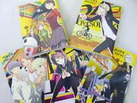 PERSONA 4 Shuji Sogabe Manga Comic Set 1-5 Art Book Atlus *
