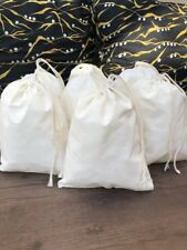 3 x 5 Inches Cotton Muslin Bag. Natural Single Drawstring. Wholesale Prices