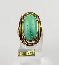 Ring aus 585er Gold mit Türkis, Gr. 62/Ø 19,7 mm  (da4594)