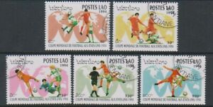 Laos - 1994, World Cup Football set - CTO - SG 1386/90 (f)