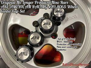 RARE ARE AMERICAN RACING 89 8065 WHEEL CENTER CAP SET NOS FORD MUSTANG SALEEN