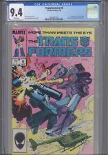 Transformers #6 CGC 9.4 1985 Marvel Comics 1st App Josie Beller -Circuit Breaker