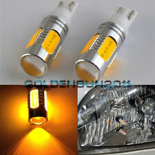 2 x T10 T15 7.5W Lens Cree LED Q5 High Power Amber Orange Car Turn Signal Tail