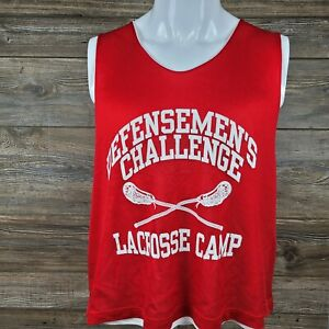 Brine Lacrosse Mens Practice Jersey Size Large/XL Reversable Red & White