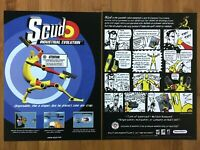 Scud Industrial Evolution PC 1997 Vintage Print Ad/Poster Official SegaSoft Rare