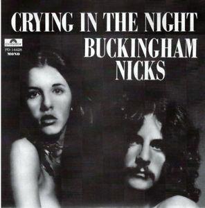 "Buckingham/Nicks - Crying In The Night 7"" (red vinyl)"