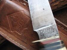 Altes Puma Jagdmesser, Fahrtenmesser 7110 von 1950 mit original Lederscheide