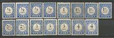 Nederland 15 Portzegels tussen 13 en 18 postfris