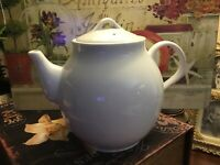 Pottery Barn~PB~White Porcelain~LG Coffee/Tea Pot~ 7 Cup~Microwave Safe~Thailand