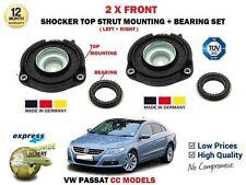 FOR VW PASSAT CC MODELS 2008-2012 2X FRONT SHOCKER TOP STRUT MOUNTINGS + BEARING