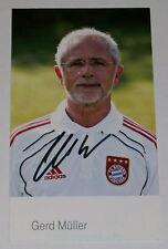 GERD MULLER BAYERN MONACO Hand Signed Autograph Foto