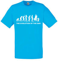 Evolution of Dad, Funny, Men's Printed T-Shirt Crew Neck Short Sleeve Cute Tee