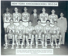 1953 1954 NEW YORK KNICKS 8X10 TEAM PHOTO MCGUIRE BRAUN BASKETBALL HOF USA