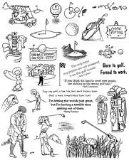 Unmounted Rubber Stamps Sheets, Sports, Golfing Quotes & Sayings, Golf Stamps