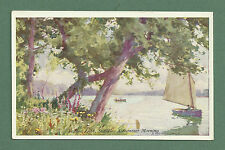 C1920'S PRETTY POSTCARD SUMMER MORNING FRITTON LAKE, SUFFOLK - A. HEATON-COOPER