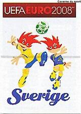 N°384 VIGNETTE PANINI MASCOTTE SWEDEN SVERIGE EURO 2008 STICKER
