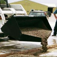 Skid Steer Concrete Bucket - 1,600 Lbs (1/2 Cubic Yard) Capacity - COMMERCIAL