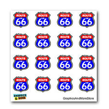 Route 66 Highway Road Sign - Set of 16 - Window Bumper Laptop Stickers