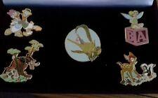 Walt Disney Collectors Retired Pin Set Tinker Bell Big Bad Wolf Donald Daisy