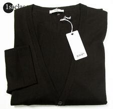 JOOP! Cardigan DEVON dark brown in XXL made of 100% Merino wool Slim Fit