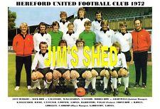 HEREFORD UNITED F.C. TEAM PRINT 1972 (OWEN / ADDISON / ICKE)