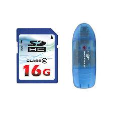OEM 16GB 16G Class 10 SD SDHC Flash Memory Card HD Video + Reader