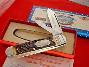 "Boker USA Made American Story 4-1/4"" Prairie Schooner Moose Knife"