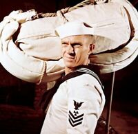 US Navy WW2 WHITE CANVAS SEA HAMMOCK Antique Vtg USN Sailor Nautical RARE