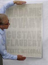 Affiche Flaubert Madame Bovary texte intégral 70 x 100 cm magnifique cadeau déco