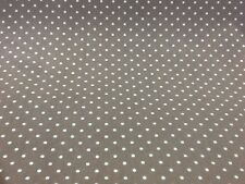 100% cotton polka dots fabric by the metre in Brown