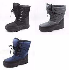 Men's Snow Boots- SKADOO Warm Winter Boots- Black/Navy/Gray Size 7-13- Stylish!!