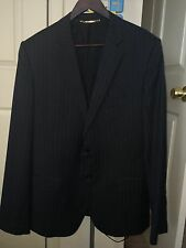 DOLCE & GABBANA D&G Dark gray Striped MENS JACKET SUIT Slim Fit IT52 (approx L)