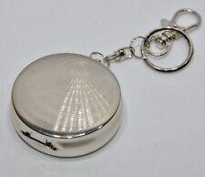 Cendrier de poche porte-clé fumeur cigarette décor n°1 métal inox NEUF