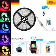 LED Stripe 5050 SMD RGB Leiste Streifen Band WiFi APP Alexa Musik Fernbedienung