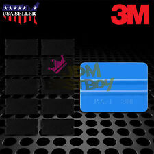 3M Blue Squeegee Applicator Tool Replaceable Felt Edge Tips x10 Vinyl Wrap Kit