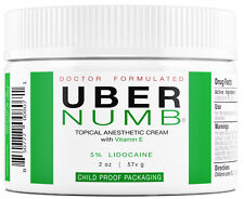 Uber Numb Topical Anesthetic Cream (2 oz) 5% - Child Resistant Cap