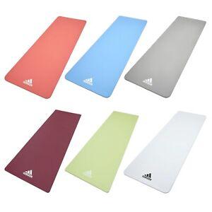 Adidas 8mm Yoga Mat Gym Exercise Pilates Thick Workout EVA TPE Non-Slip Fitness