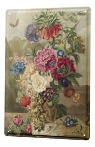 Tin Sign Plants Flower vase