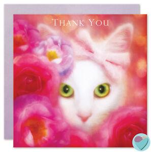 Thank You Card Teacher Cat Sitter Carer Friend Mum Sister Niece Kitten Lover