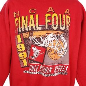 NCAA Final Four Sweatshirt Vintage 90s 1991 UNLV Runnin Rebels Made In USA Large