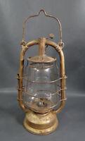 WWII German Military Feuerhand #323 Tubular RR Kerosene Lantern Light Lamp&Globe