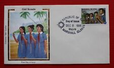 "Clearance - Marshall Islands (C10) 1986 Girl Scouts Colorano ""Silk"" FDC"